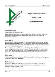 Jungwacht Schüpfheim 2012-11-14 Informationsbrief
