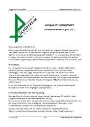Jungwacht Schüpfheim