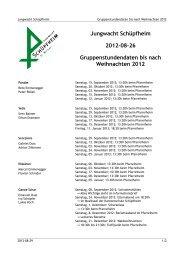 Jungwacht Schüpfheim 2012-08-26 Gruppenstundendaten bis nach ...