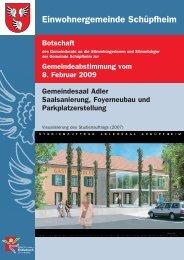 Botschaft - Gemeinde Schüpfheim