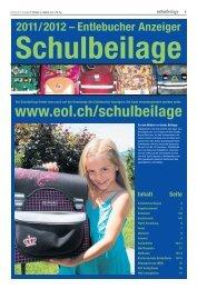 Schulbeilage Entlebucher Anzeiger 2011/2012 - Schule Hasle