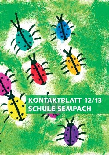 Kontaktblatt 2012/2013 zum Herunterladen - Stadt Sempach