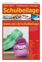 Schulbeilage Entlebucher Anzeiger 2012/2013 - Schule Hasle
