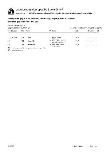 Ludwigsburg-Monrepos,PLS vom 06.-07 - Reit- und Fahrvereins ...
