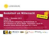 Basketball um Mitternacht - Neckar RIESEN Ludwigsburg