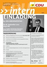 Aus den Ortsverbänden KREISTEIL - CDU Kreisverband Ludwigsburg