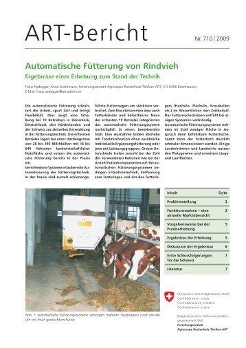 Automatische Fütterung von Rindvieh - agrigate.ch
