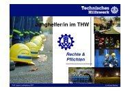 Junghelfer/in im THW Rechte & Pflichten - THW-Jugend Ludwigsburg