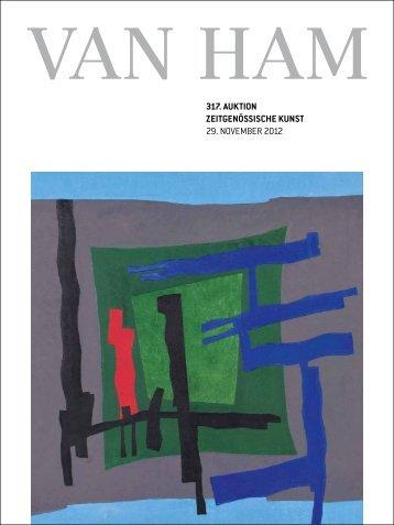 Zeitgenössische kunst - VAN HAM Kunstauktionen