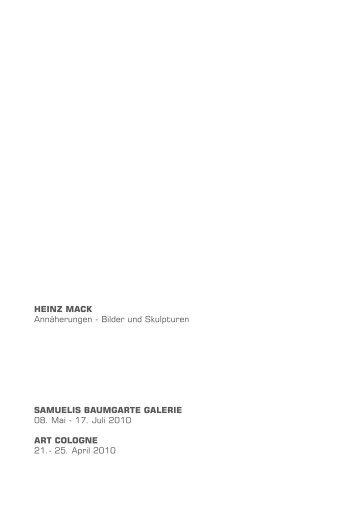 Katalog Heinz Mack - Samuelis Baumgarte Galerie