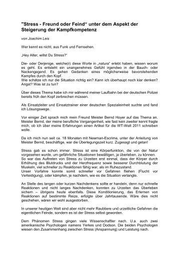 Stress - Freund oder Feind - WingTsun-Schule Ludwigsburg
