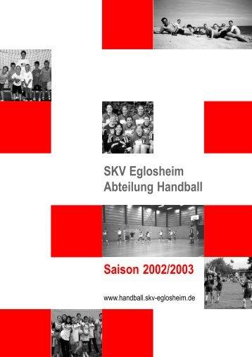SKV Eglosheim - Abteilung Handball - bei der SG Ludwigsburg ...