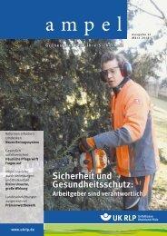 Sicherheit und Gesundheitsschutz: - Unfallkasse Rheinland-Pfalz