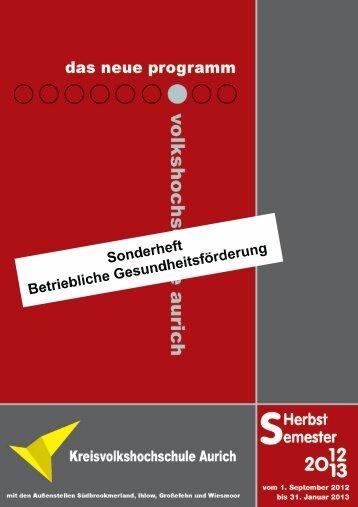 Sonderheft - Kreisvolkshochschule Aurich