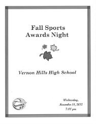 Fall Sports Awards Night Program 2012