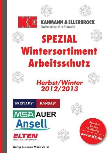 Spezial Wintersortiment Arbeitsschutz Herbst/Winter 2012/2013 (PDF