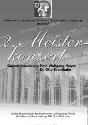 Prof. Wolfgang Meyer Dr. Otto Kronthaler - Musikverein Oßweil ...