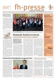 fh-presse 1/2012 - Fachhochschule Dortmund