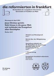 Jesus Christus spricht - Die evangelisch-reformierte Gemeinde in ...
