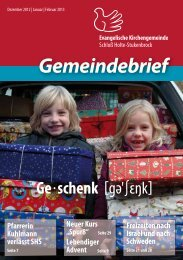 Gemeindebrief - Evanglische Kirchengmeinde Schloß Holte ...