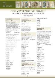 GESAMTVERZEICHNIS 20 /20 2 - Gebr. Mann Verlag