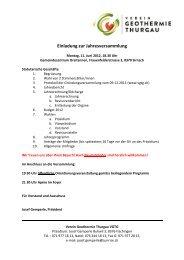 Sitzungsprotokoll - Verein Geothermie Thurgau