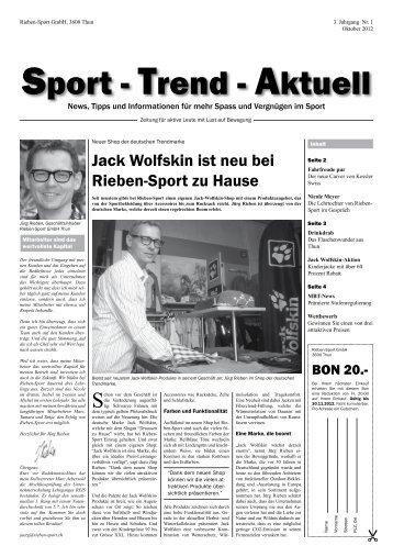 Jack Wolfskin ist neu bei Rieben-Sport zu Hause