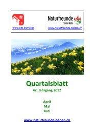 Liebe Mitglieder - Naturfreunde Sektion Baden