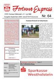 Die Fußballabteilung - ETSV Fortuna Glückstadt eV