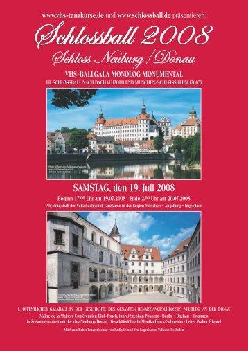SAMSTAG, den 19. Juli 2008 - Schlossball 2008 Neuburg / Donau