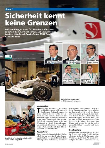 Artikel Safety -Plus: Sauber Formel 1, Sicherheits kennt