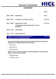 13.09.2012 - Hamburg International Conference of Logistics