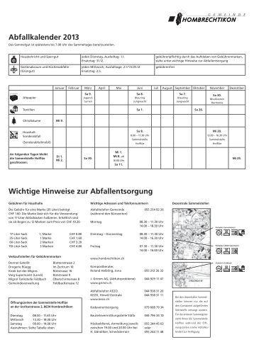merkblatt abfallentsorgung und separatsammlungen pdf. Black Bedroom Furniture Sets. Home Design Ideas