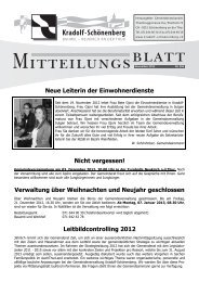 Mitteilungsblatt November 2012 - Gemeinde Kradolf-Schönenberg