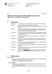 Allgemeiner Befehl für den Winter Militärsportkurs 2011 vom ... - Heer