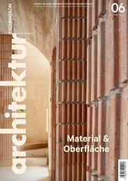 architektur Fachmagazin Ausgabe 6/2020