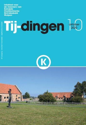Infoblad Tij-dingen, editie oktober 2020