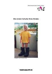 Die ersten Schuhe Ihres Kindes - Bewegter Lebensstart