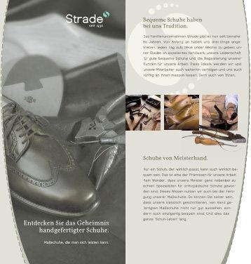 Entdecken Sie das Geheimnis handgefertigter Schuhe. - Strade