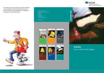 Schuhe - Berufsgenossenschaft Handel und Warendistribution