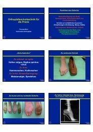Orthopädieschuhtechnik für die Praxis