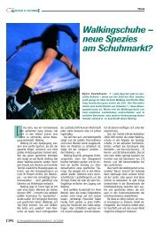 Walkingschuhe – neue Spezies am Schuhmarkt? - currex