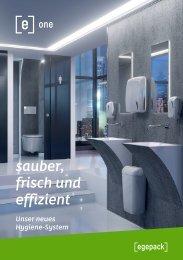 [e]one sauber, frisch und effizient - Unser neues Hygiene-System