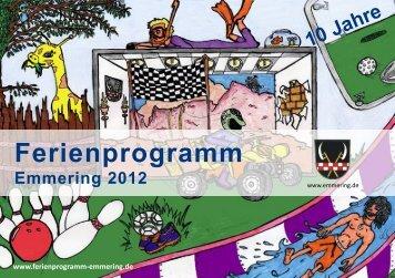 Ferienprogramm Emmering 2012