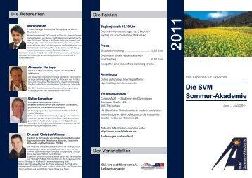Die SVM Sommer- Akademie 2011 - Bayerischer Skiverband