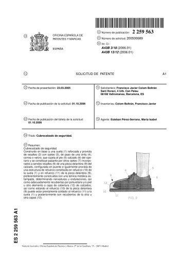 Es 2 349 822 a1 oficina espa ola de patentes y marcas for Oficina patentes y marcas
