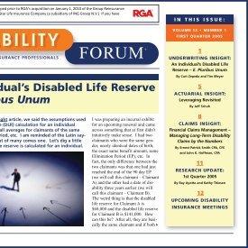 An Individual's Disabled Life Reserve – E. Pluribus Unum