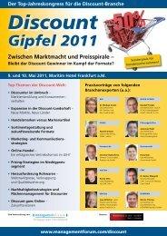 Discount Gipfel 2011 - Management Forum der Verlagsgruppe ...