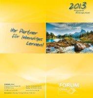 Bildungsurlaub 2013 - Forum Unna