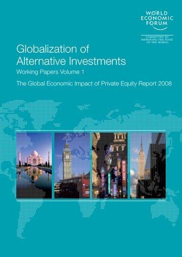 Globalization of Alternative Investments - World Economic Forum